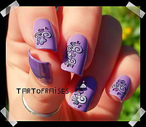 water decal violet 030